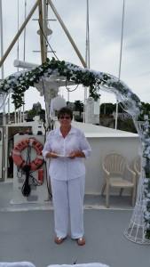 Rev Sharon Ready a Boat Wedding at  Fisherman's Wharf in Lewes, DE